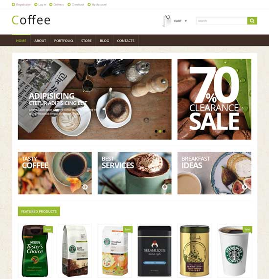 Coffee Shop - Free WooCommerce Theme