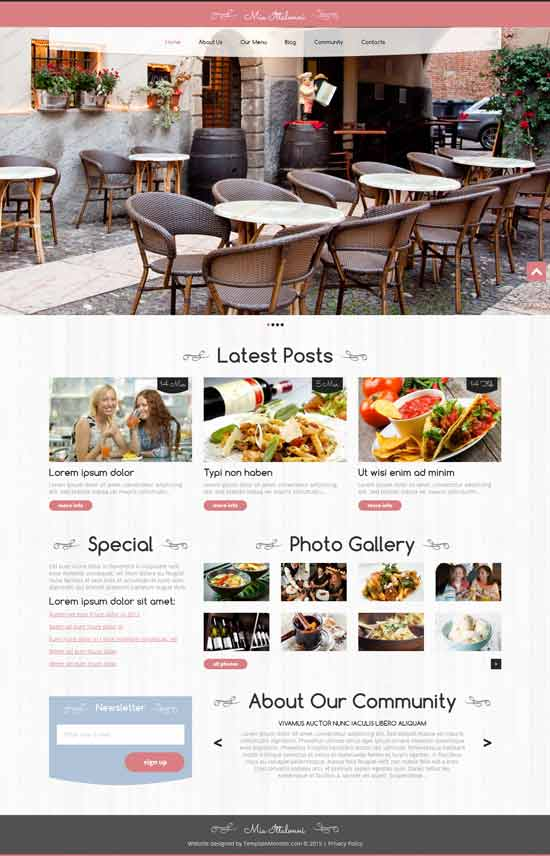 mia ittalloni wordpress restaurant theme