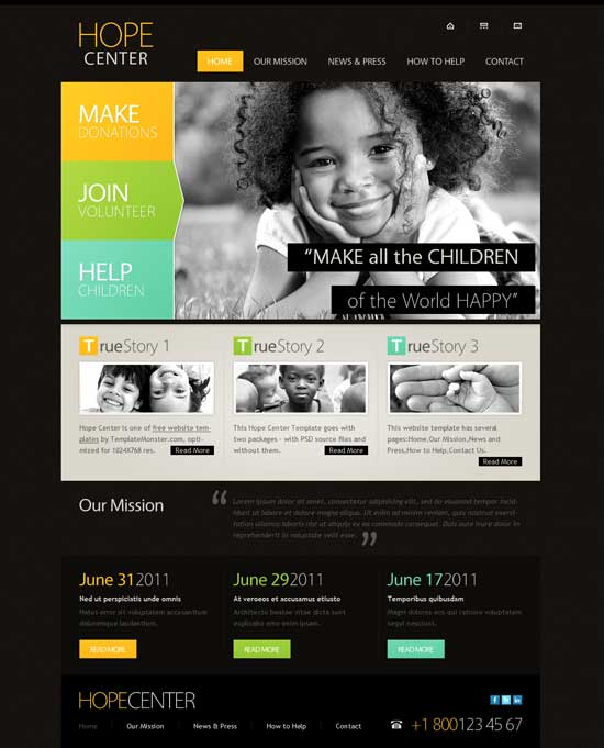 Free-charity-website-template