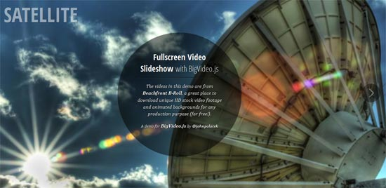 Fullscreen Video Slideshow with BigVideo.js