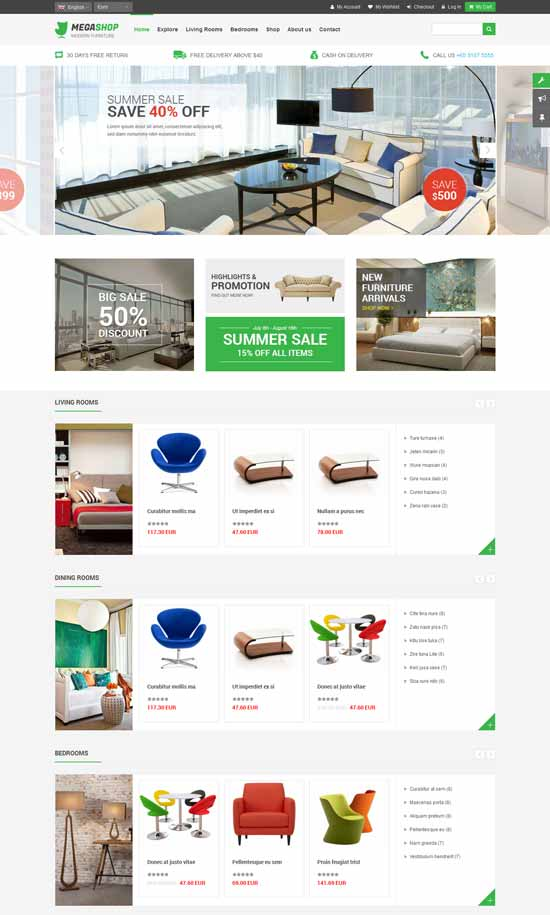 Furniture-Commerce-Responsive-Joomla-Template