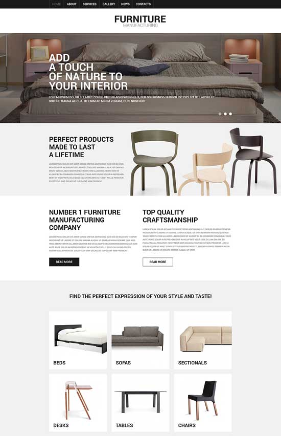Furniture-Responsive-Joomla-Template