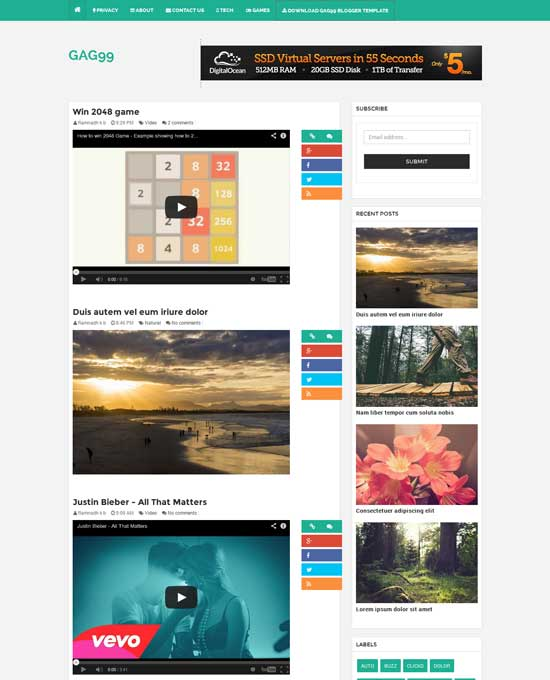 GAG99-Free-Galley-and-Video-Blogger-Template