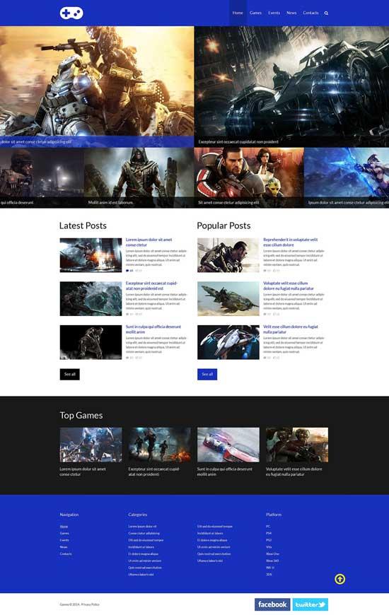 Game-Portal-Responsive-Website-Template