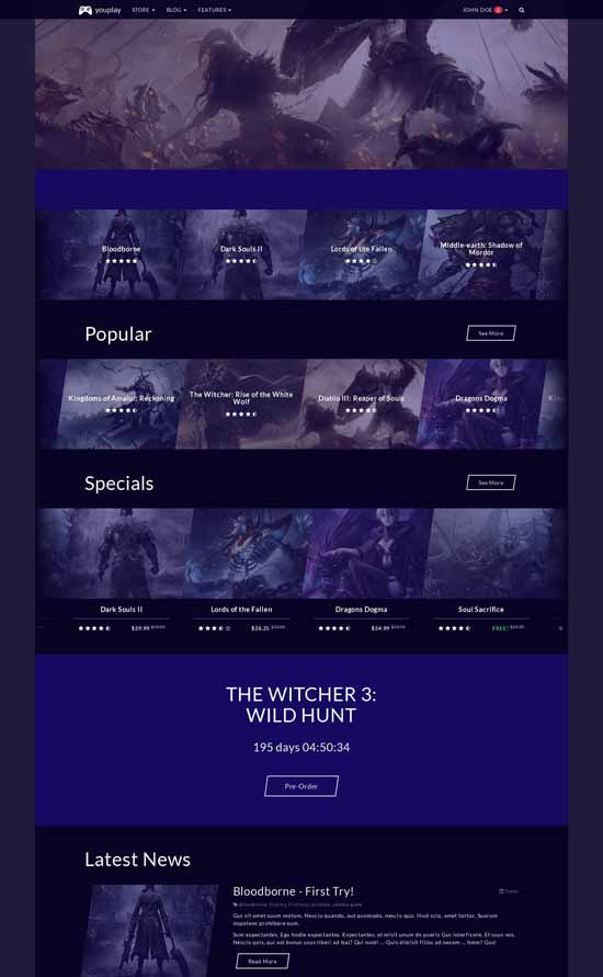 Game-Template-based-on-Bootstrap