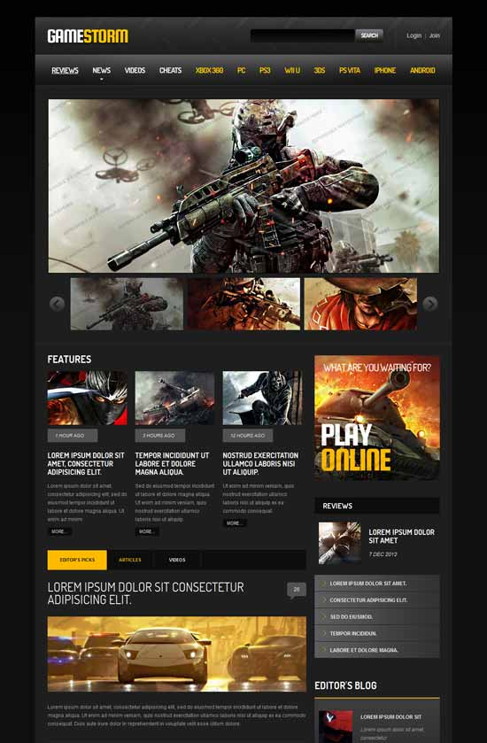 GameStorem-Games-Responsive-Website-Template