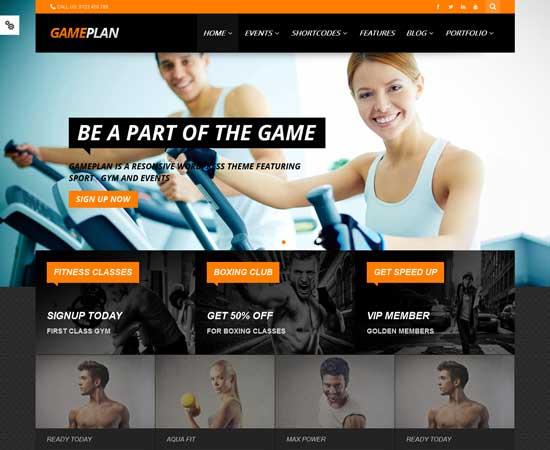 Gameplan- fitness WordPress theme