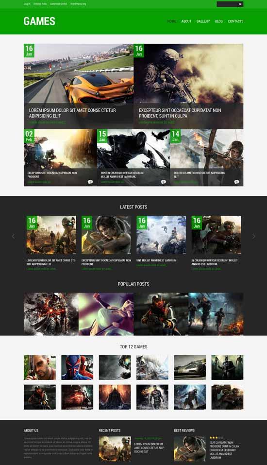Games-Responsive-WordPress-Theme
