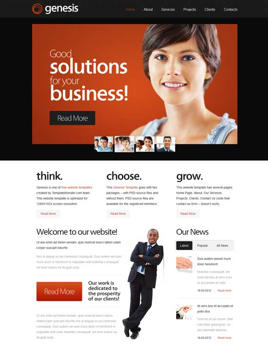 Genesis-Free-HTML5-Business-Template