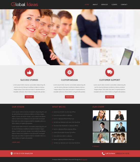 Global-Ideas-Free-Corporate-website-Template