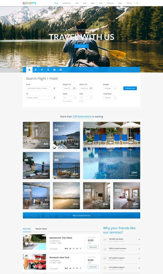 Travel Booking Template