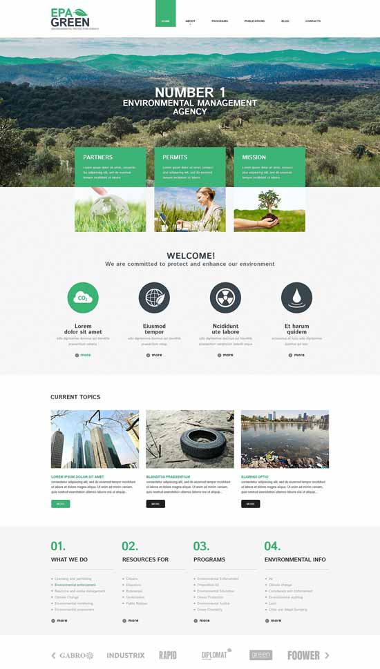 Green-Environmental-Responsive-WordPress-Theme