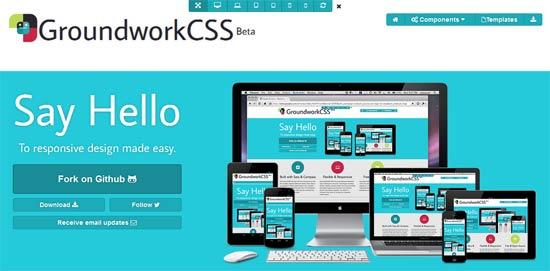 GroundworkCSS - A Responsive HTML5, CSS & Javascript Framework