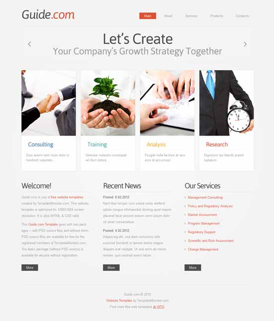 Guide-Free-HTML5-Consulting-Template