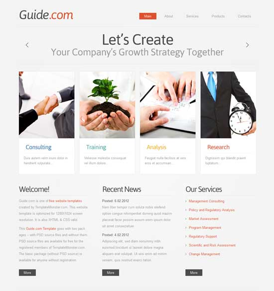 Guide-Free-HTMl5-Business-Template