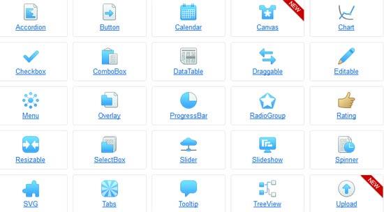 ZinoUI - jQuery UI components library HTML5 framework