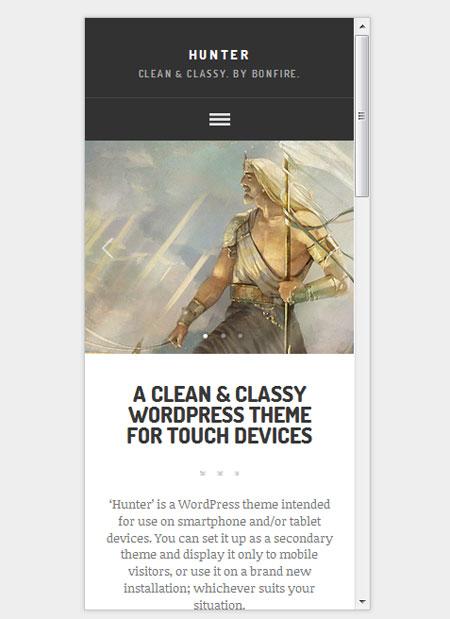 HUNTER-clean-classy-WordPress-theme