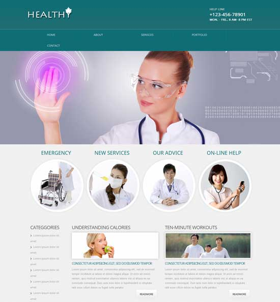 Healthy-Free-Health-Website-Template