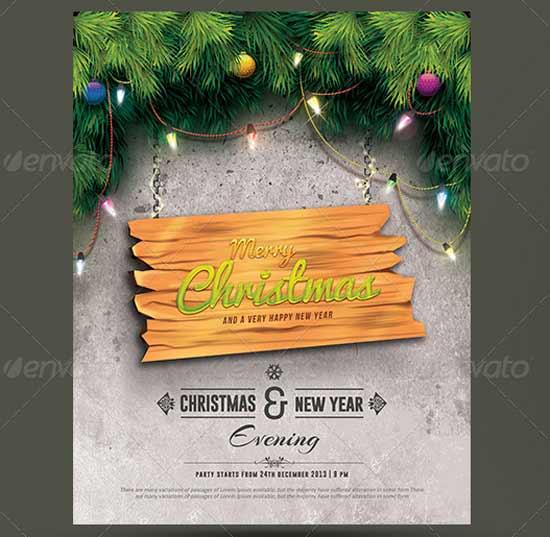 Seasons Greetings Christmas Flyer Templates