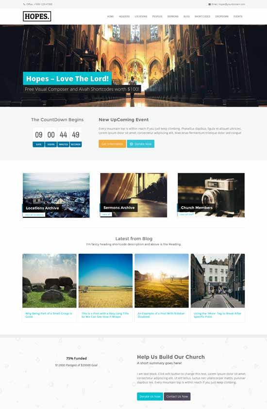 Hopes-Church-WordPress-Theme
