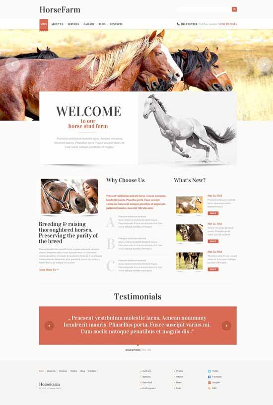 Horse-Farms-WordPress-Theme