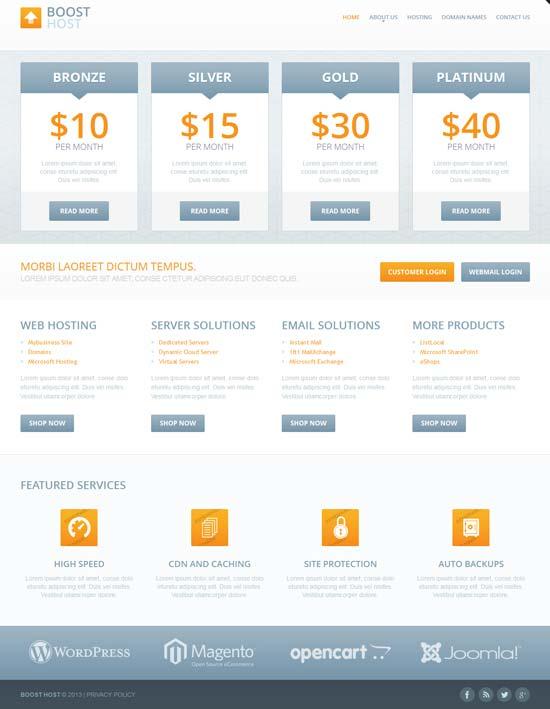Hosting-Responsive-Website-Template