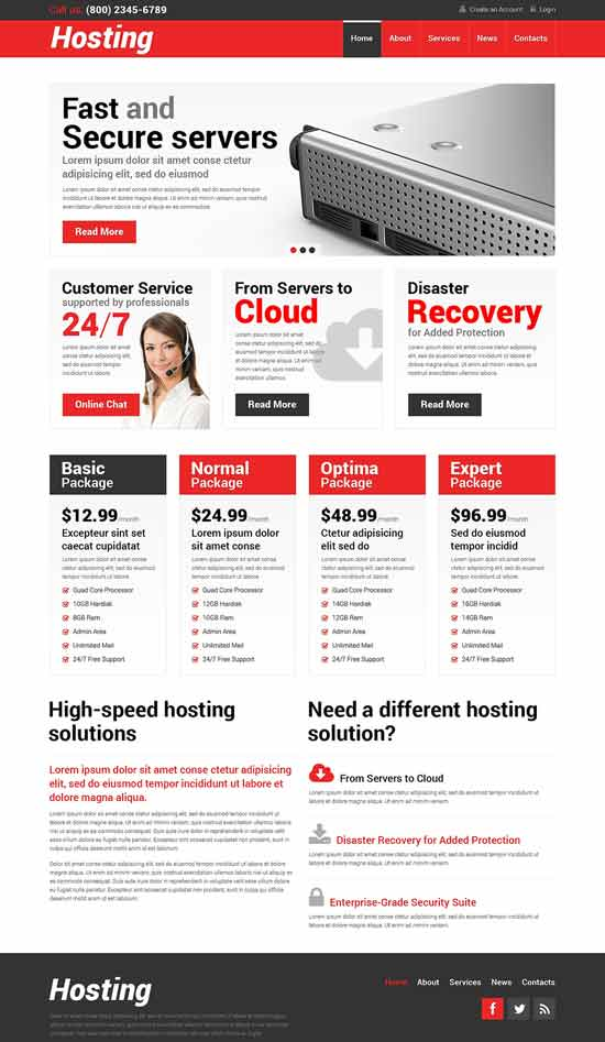 Hosting-Responsive-WordPress-Theme