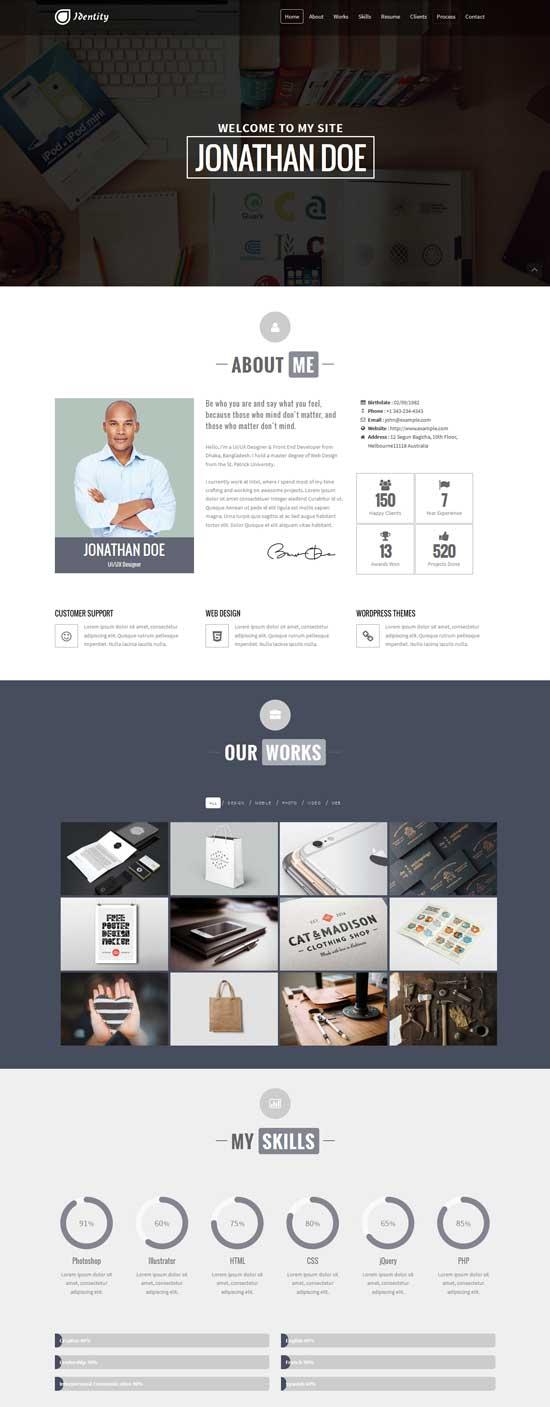 Identity-Personal-CV-Portfolio-WP-Theme