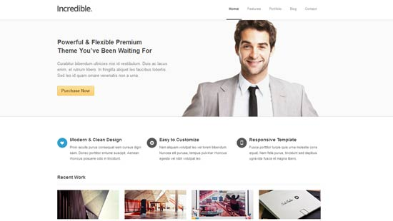 Incredible premium responsive Drupal Theme