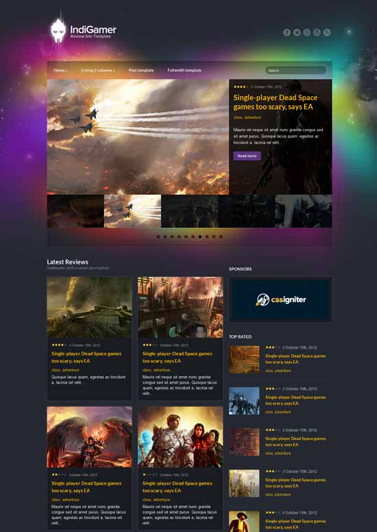 Indigamer-Responsive-Game-Review-Site-Template