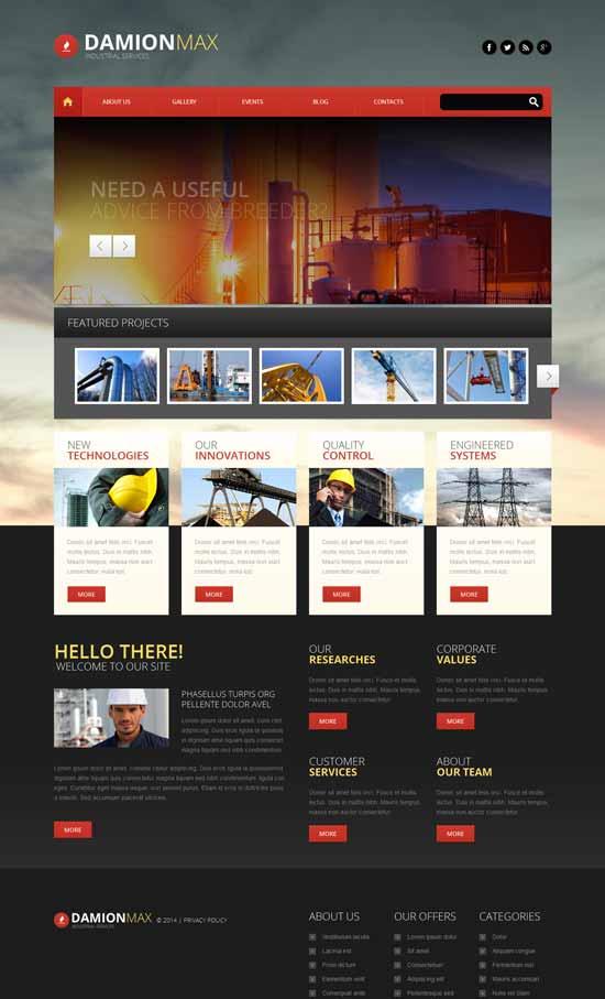 Industrial-Responsive-WordPress-Theme