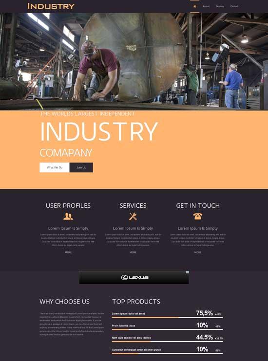 60+ Best Industrial Website Templates Free & Premium - Page 2 of 2 - freshDesignweb