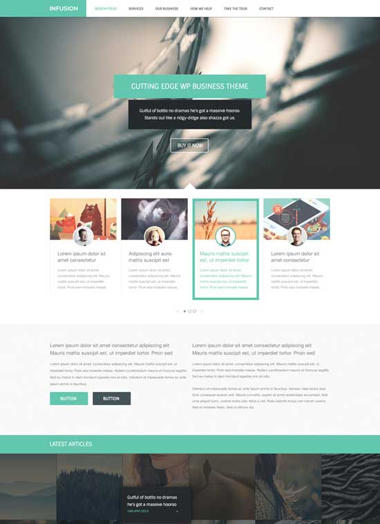 Infusion-Free-website-template