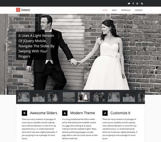 Intent-Flat-Responsive-Wedding-web-template
