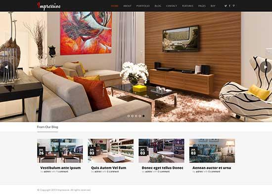 Impressive Interior Responsive WordPress Theme