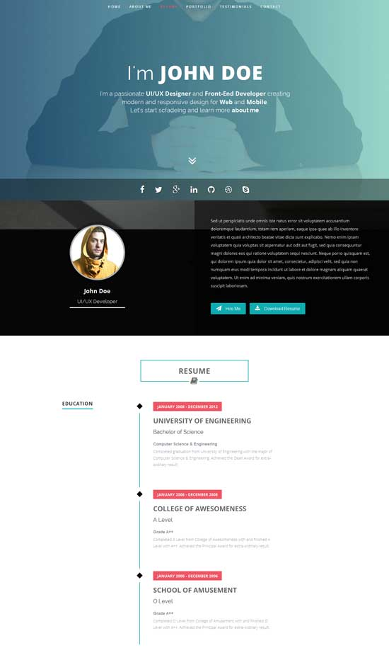 Intima-Clean-Responsive-Resume-Template