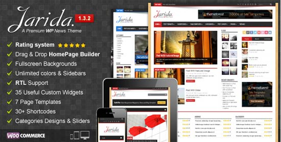 Jarida Responsive WordPress News, Magazine, Blog