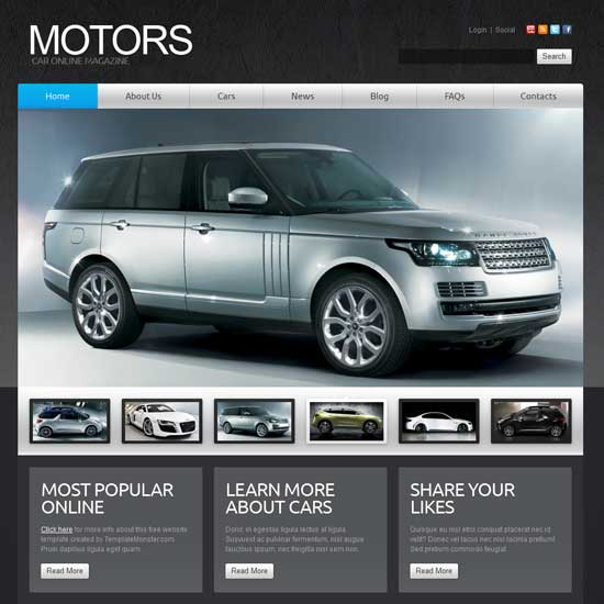 Automatic Joomla Car Template 2.5