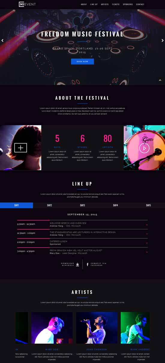 Joomla-Event-Music-template