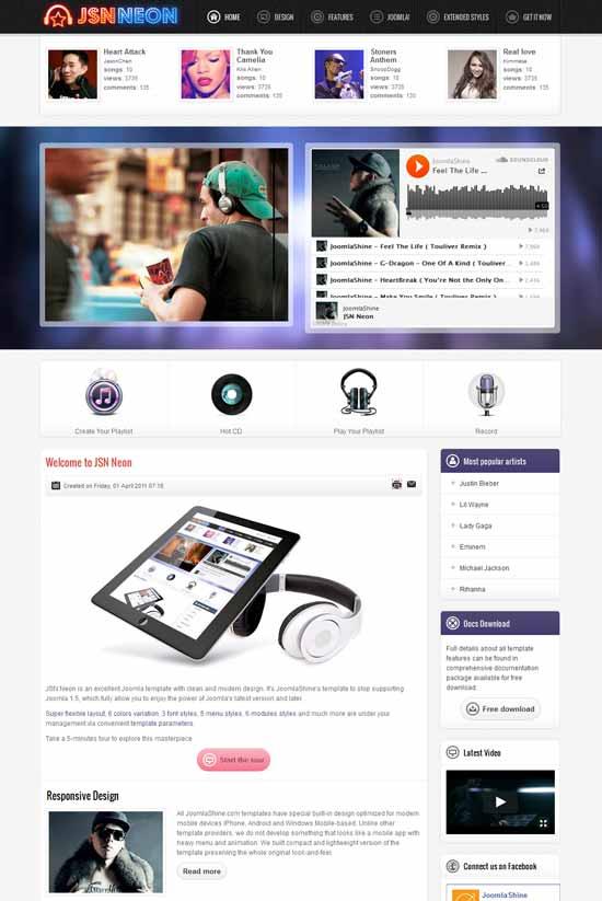 Joomla-Music-Template-JomSocial