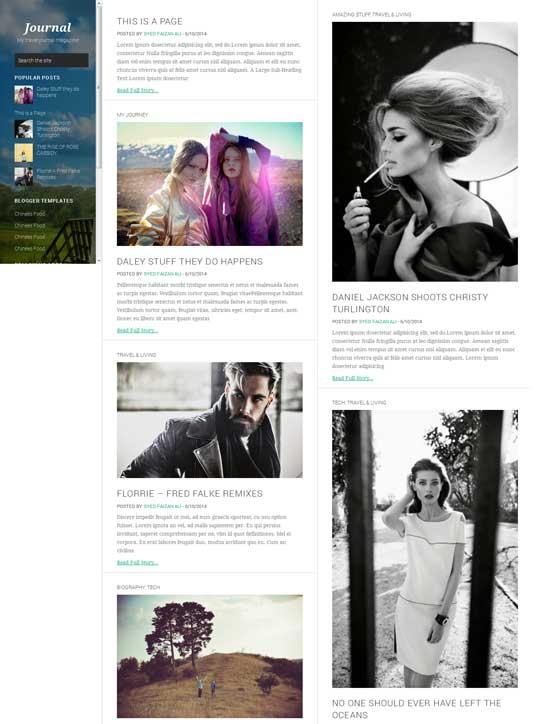 Journey-Free-traveller-blogger-template