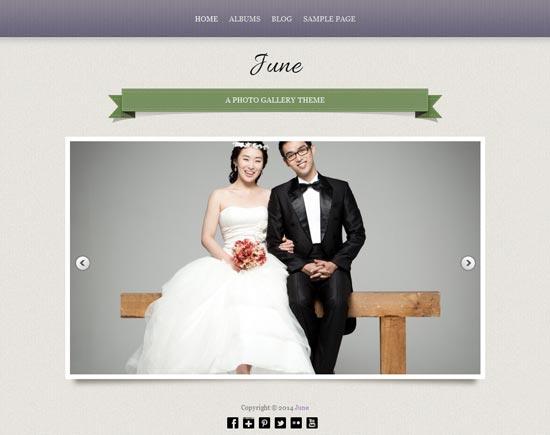 June-Free-Wedding-photo-gallery-theme