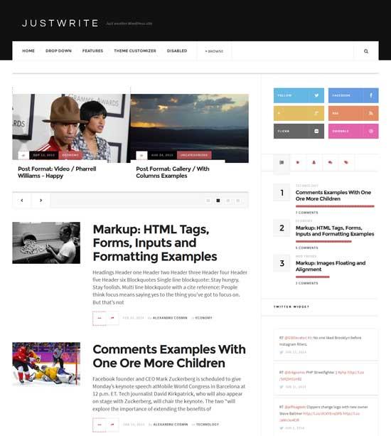 JustWrite-Free-news-WordPress-Theme