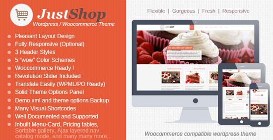 Justshop - WordPress WooCommerce Theme