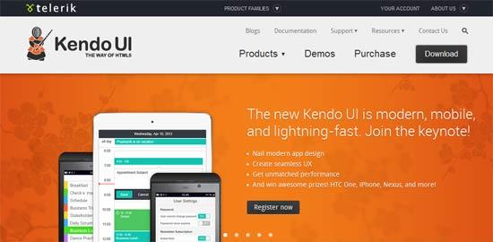 Kendo UI - jQuery HTML5 framework