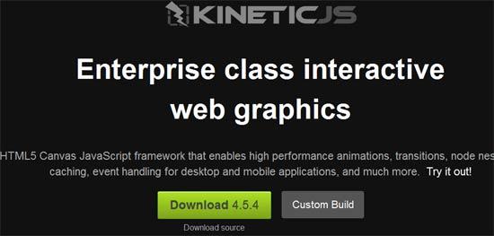 HTML5 Framework - KineticJS