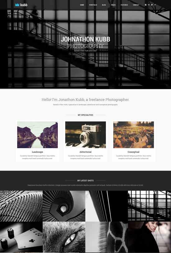 Kubb-Photography-WordPress-Theme