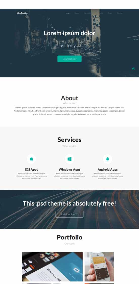 Landing-Page-Flat-Bootstrap-template