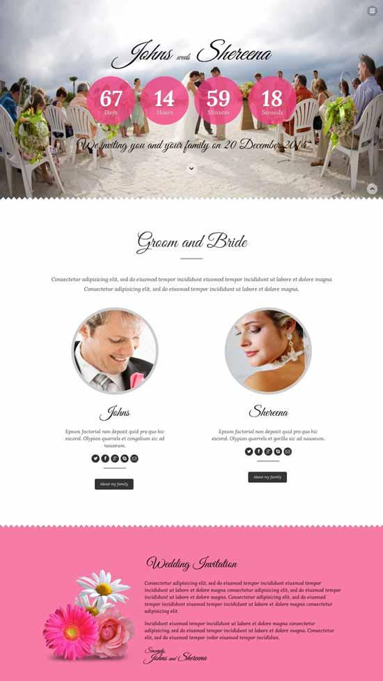Lantern-Responsive-Wedding-Template