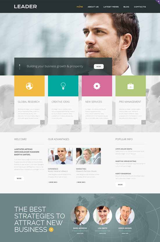 Leader-Consulting-Responsive-Website-Template